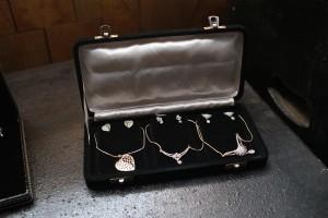 Jewellery dispayed