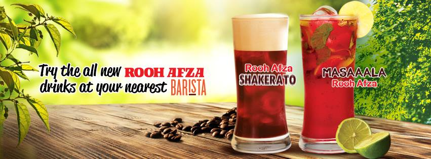 Roohafza Coffee at Barista